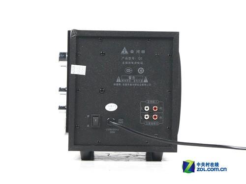 金河田q5音箱:低音炮侧面