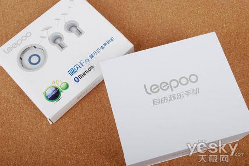 图为:leepoo f9 包装盒与蓝牙耳机图片