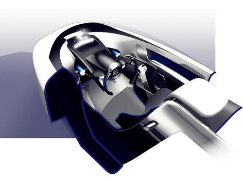 宝马i1电动车效果图 三轮设计/碳纤底盘
