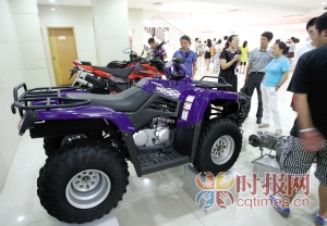 九龙坡区九龙园区隆鑫集团,隆鑫生产的摩托车