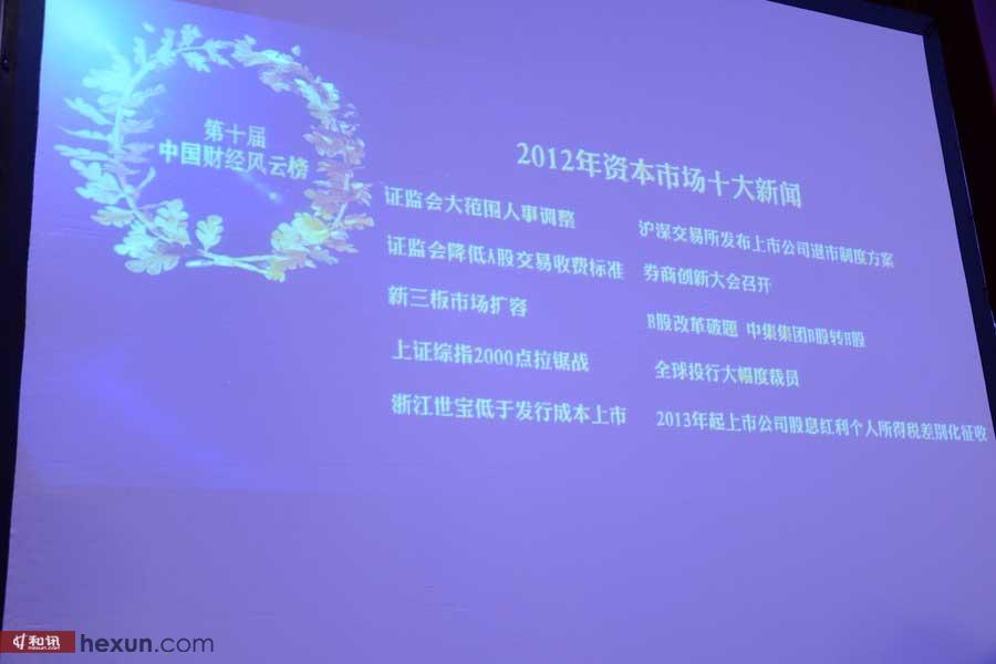 2012年度资本市场十大新闻事件