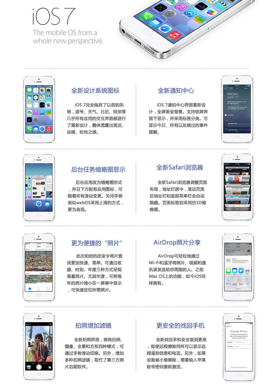 iOS 7新特性