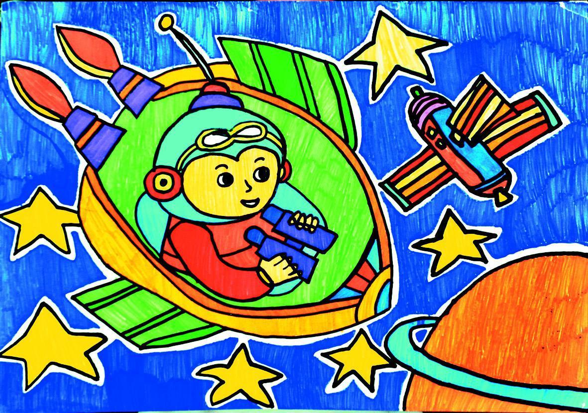 我的航天梦绘画图片展示