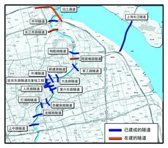 上海浦东江手绘地图
