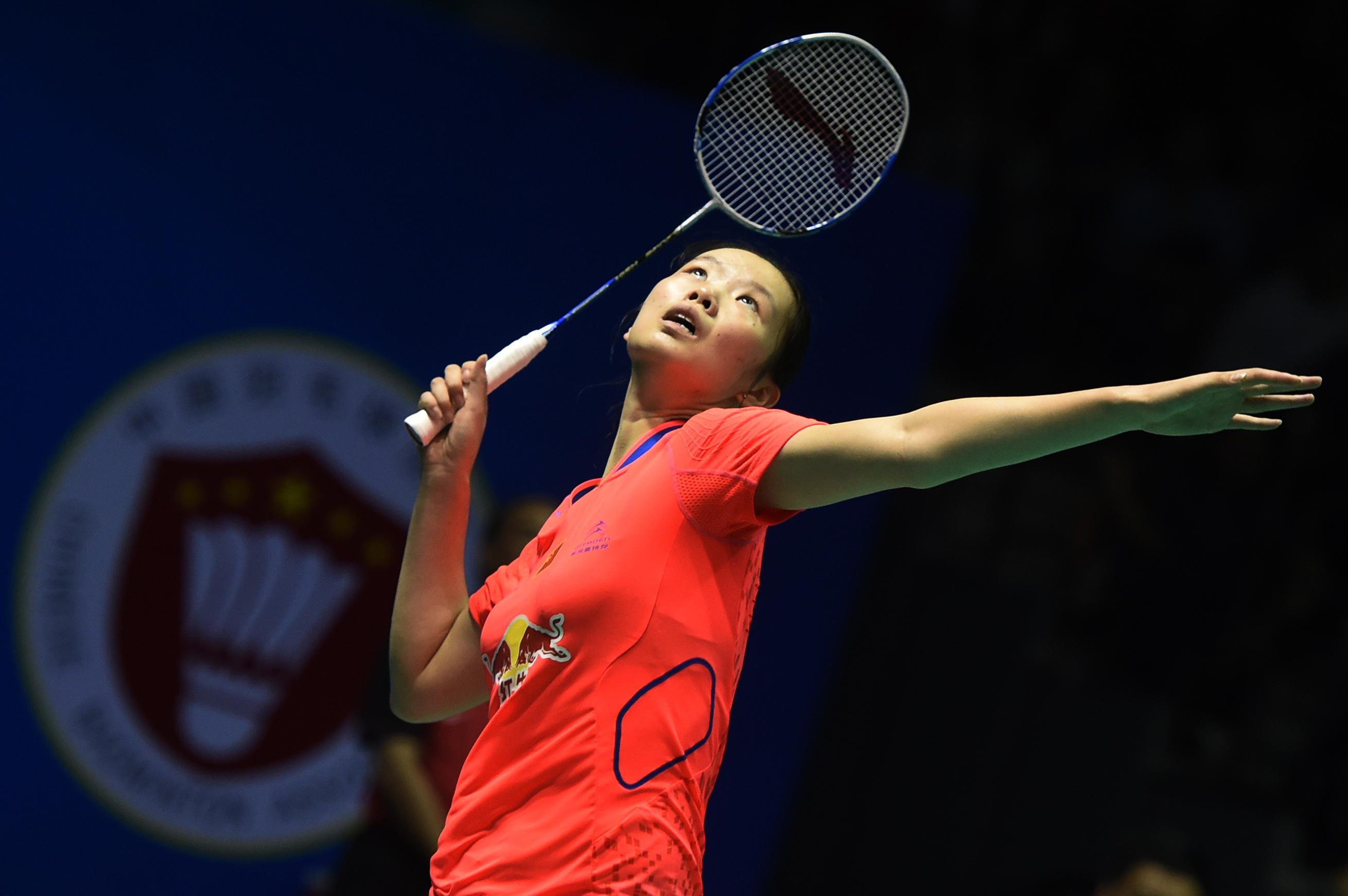 (锐亚军)(1)羽毛球--亚锦赛:李雪芮获女单美女视角看见痰吐图片