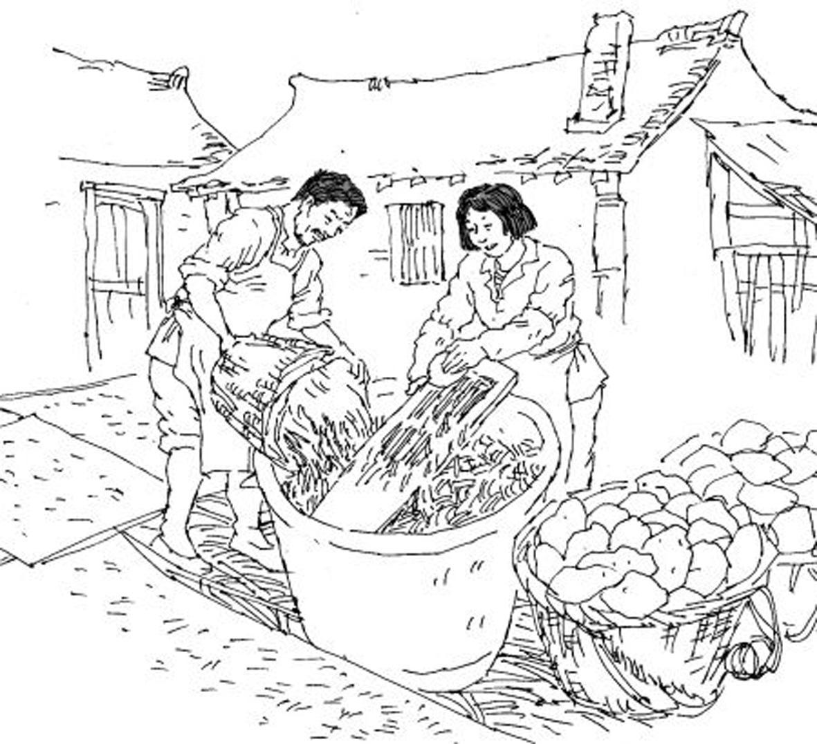 春节天津手绘画