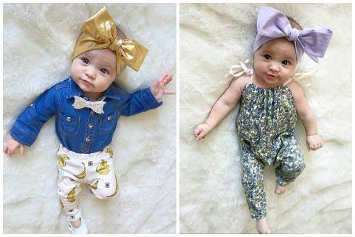 8个月女婴吸粉5000个 获赞童装小模特