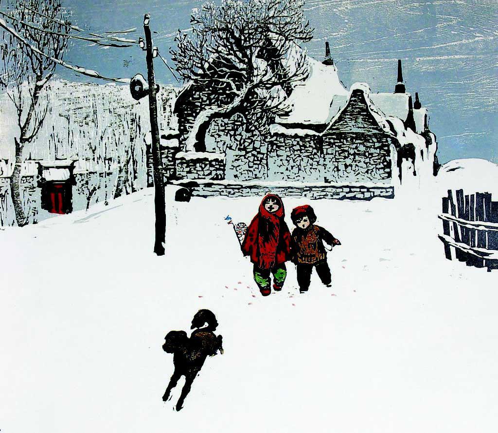圣诞老人五谷粘贴画